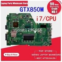 GTX850M i7 cpu 4GB/RAM X751LK motherboard REV 2.0 For Asus X751L K751L X751LK X751LX laptop motherboard X751LK Mainboard 100% OK