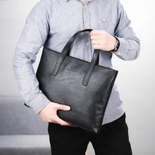 Men's Casual Soft Leather Handbag