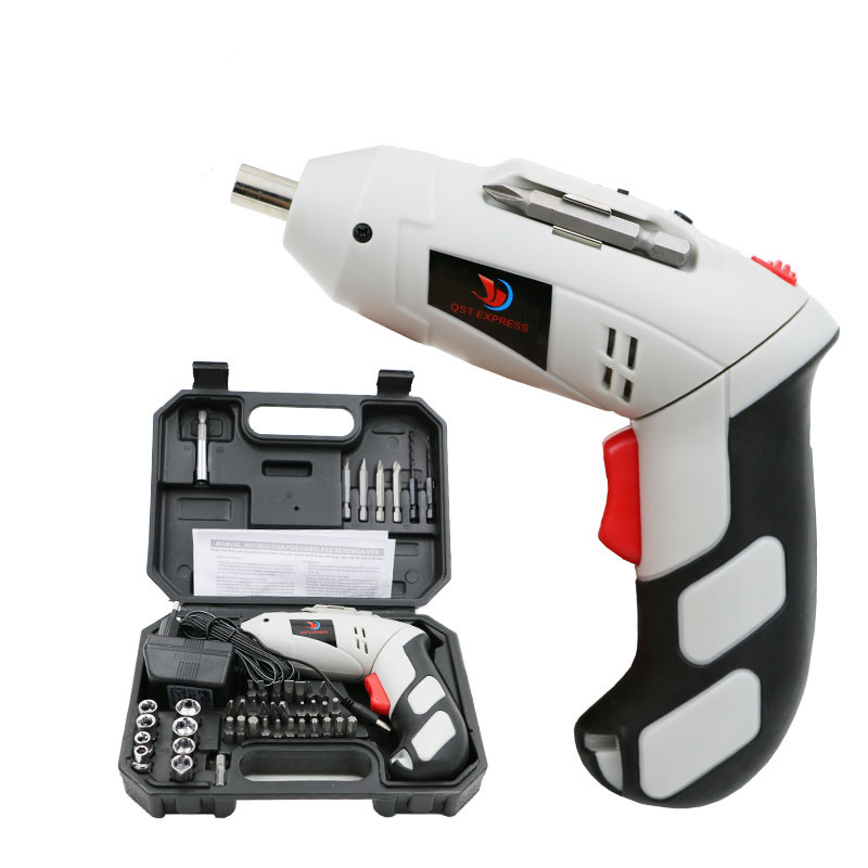mini 4.8v cordless battery rechargeable copper electric screwdriver Multi accessories LED light with 45pcs Electric Drill bit