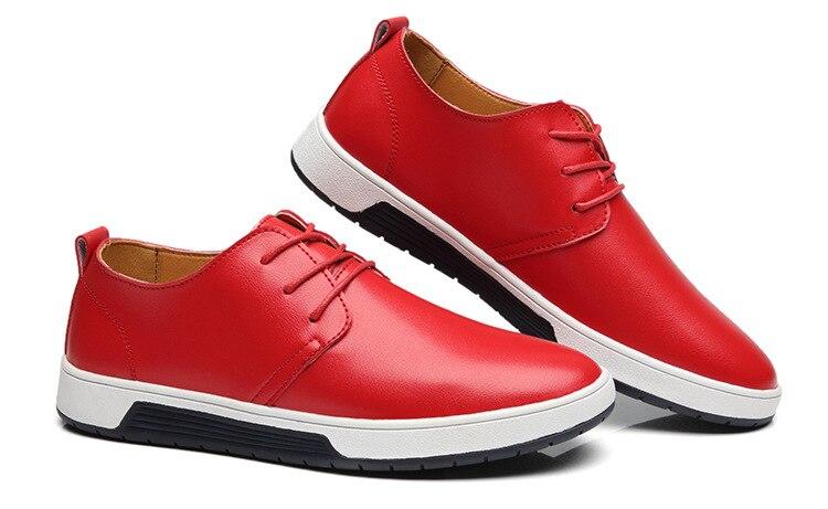 Suaves Los La 2018 Llegada Hombres Venta Nueva Cuero Casuales Alta Zapatos Calidad Planos Caliente De wxFqA0x