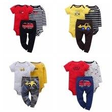 Комплекты одежды для маленьких мальчиков Комплекты из 3 предметов roupas de bebes Одежда для маленьких девочек пижама cueca infantil Пижама для новорожденных