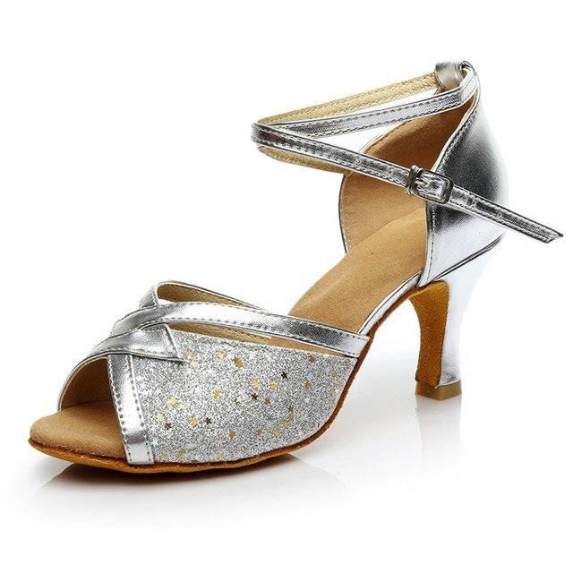New Women Ladies Ballroom Party Latin Tango Dance Shoes Open Toe Rumba Salsa  Dancing Shoes Sandals Heeled 5cm 7cm b6688945ffed