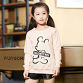 Girl Tshirt Spring Mickey Cotton Beautiful Girls Tees Long Sleeve T-shirts Baby Children Autumn Blue Pink Clothing GH049
