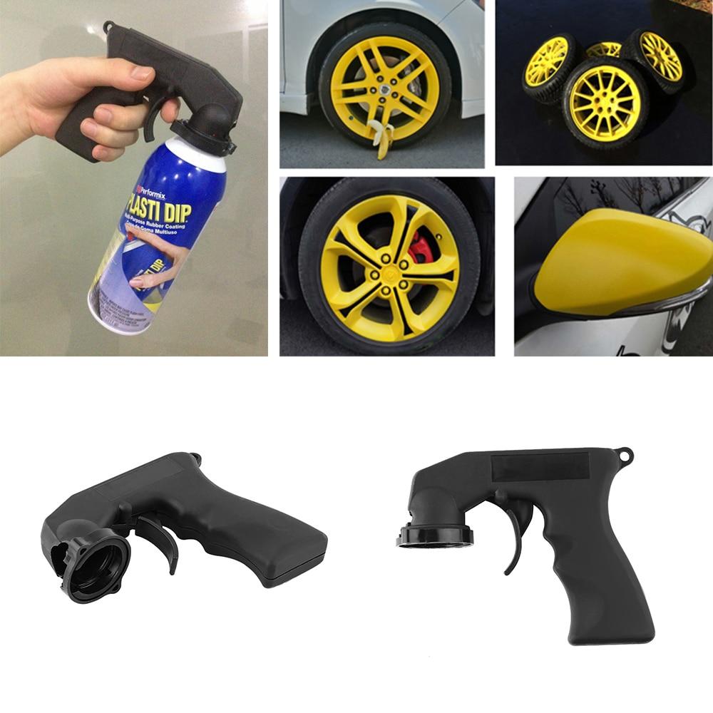 1 Pcs Spray Adaptor Paint Care Aerosol Spray Gun Handle With Full Grip Trigger Locking Collar Car Maintenance