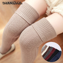 2017 Korean Style Autumn Women Stockings Thick Overknee Woman's Stockings Thigh High Cotton  Winter Stocking Female Hosiery