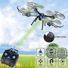 LeadingStar Drone RC 6 Axis Gyro 2.4 GHz 4CH Quadcopter con cámara de 360 grados de eversión dron h98 vs h31 cx-10w toys para niños