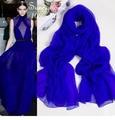 Капот Hidjab 100% Чистый Шелковый Платок Твердые Блестящие Голубой Дамы Ювелирные Изделия Шифон Шарфы Британский Люксовый Бренд пашмины и Платки