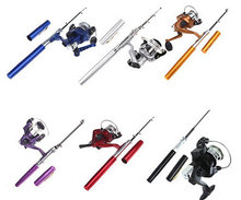 Telescopic Rod Ice Fishing Portable Pen Rods Pocket Aluminum Alloy Fishing Rod with Reel Fishing Tackle Rod Reel Combo