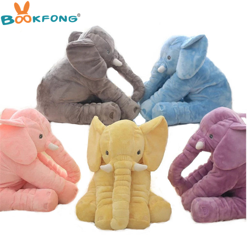 BOOKFONG Drop Shipping 40cm Infant Soft Appease Elephant Pillow Baby Sleep Toys Room Decoration Plush Toys for kids