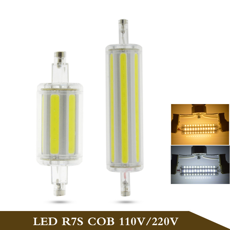 1pcs 30w r7s cob led light 78mm 118mm lamp ac85v 265v for Lampada led r7s 118mm