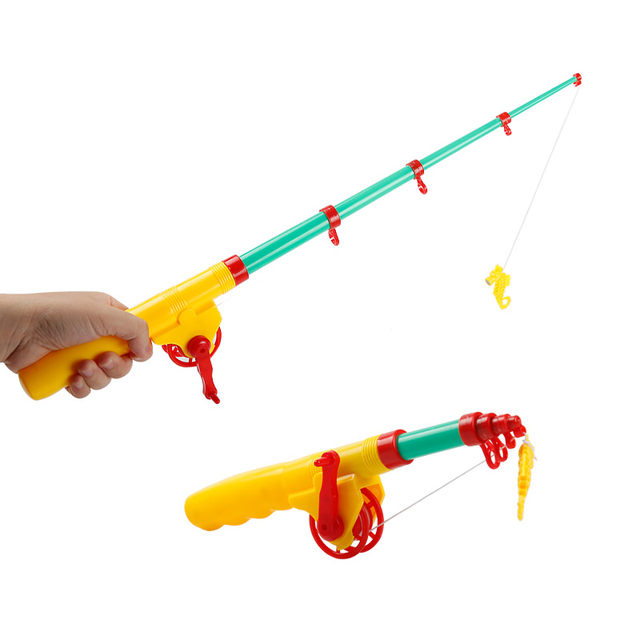 Telescopic fishing rod learning education magnetic for Baby fishing pole