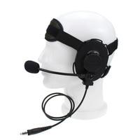 talkie walkie 2 באומן טקטי פין עלית II אוזניות עם מיקרופון PTT Waterproof עבור G6 Talkie Walkie מידלנד G7 GXT550 GXT650 LXT80 LXT112 LXT435 (1)