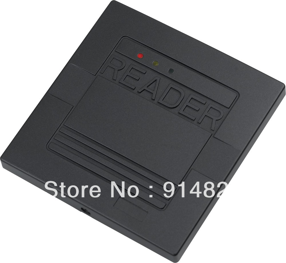 Free shipping +EM-ID rfid reader + 125khz rfid card reader + wiegand 26 output access control reader 125khz rfid id em card reader