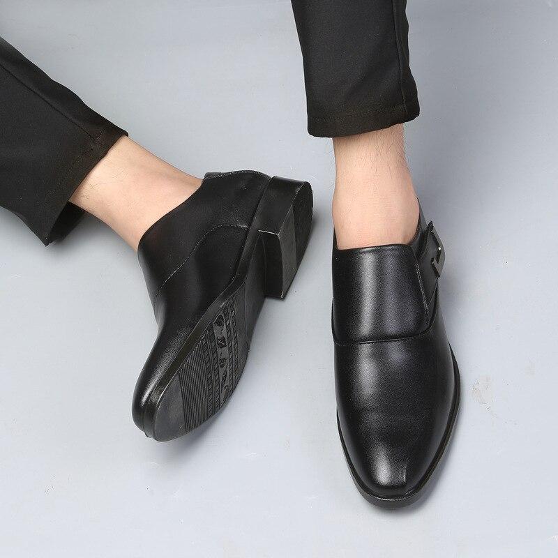 Sport Grande Taille De Hombre Chaussures Pied Ag477 En Mode Cuir Black Hommes Mariage Des Pu Zapatillas Sauvage brown SVzUMp