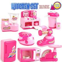 8Pcs/set Small Appliances Suit Simulation Pretend Play House Toy Kitchen Tools Collection Children Multi function Mini Toy Gift