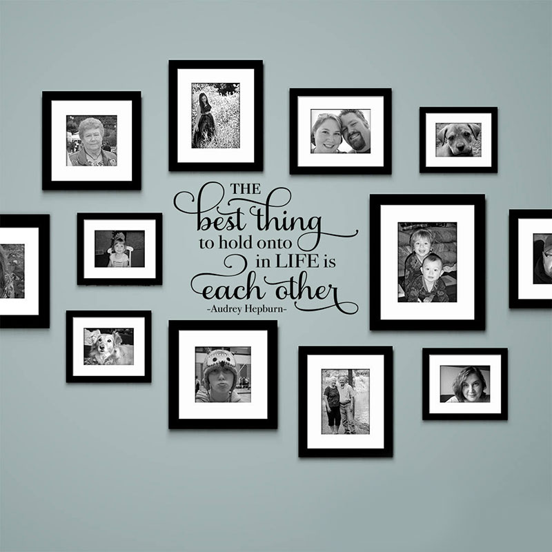 The Best Thing To Hold Onto In Life Is Each Other Wall Decal Audrey Hepburn Quote Gallery Home Decor Removable 3226
