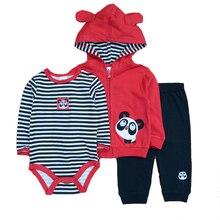 2019 3PCS/Lot Suits Coat Bodysuit Pants Cotton Long Sleeve Winter Newborn Baby Girls Clothes Baby Boy Clothes Set