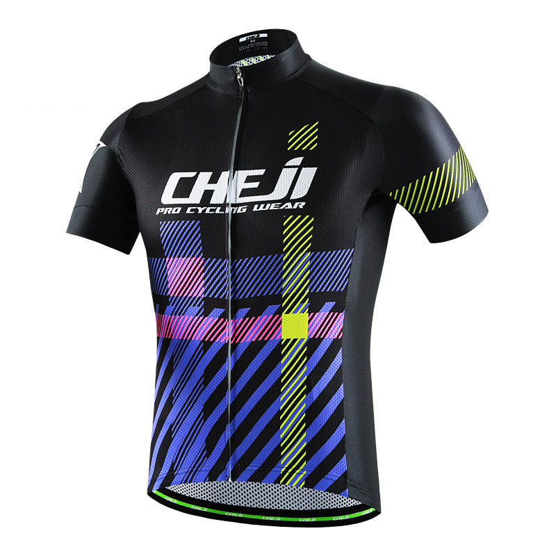 Cheji Mens Cycling Jersey Tops Maillot Sports mtb Bicycle Cycling Clothing Ropa Ciclismo Summer Bike Jersey Clothes Cycling Wear