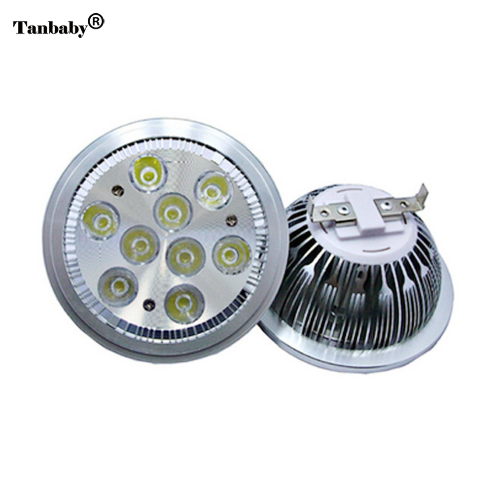 Tanbaby DC12V AR111 led light spot lamp 5W/7W/9W/12W White/Warm high power led bulb halogen floodlight home garden tanbaby 5pcs 5 5mm x 2 1mm 12v dc power male