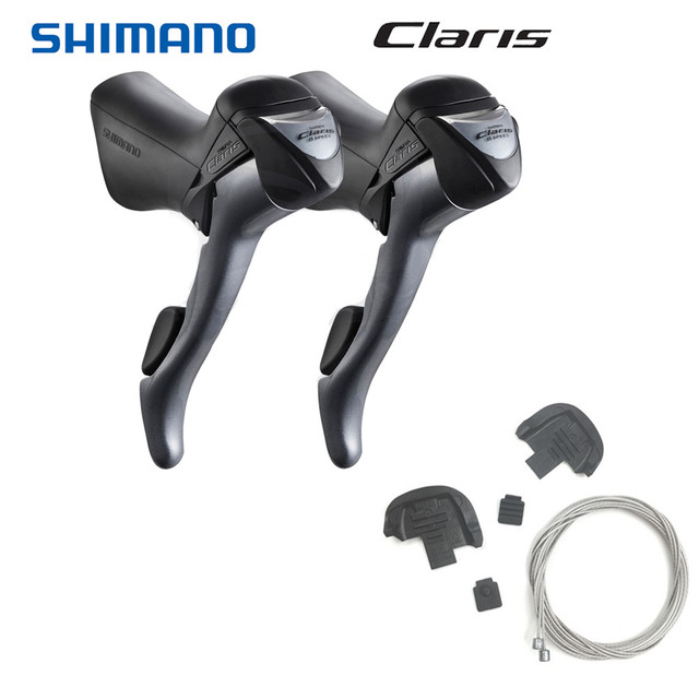 Shimano Road Claris ST 2400 STI Shifter Lever Set 2x8 Speed Left Right