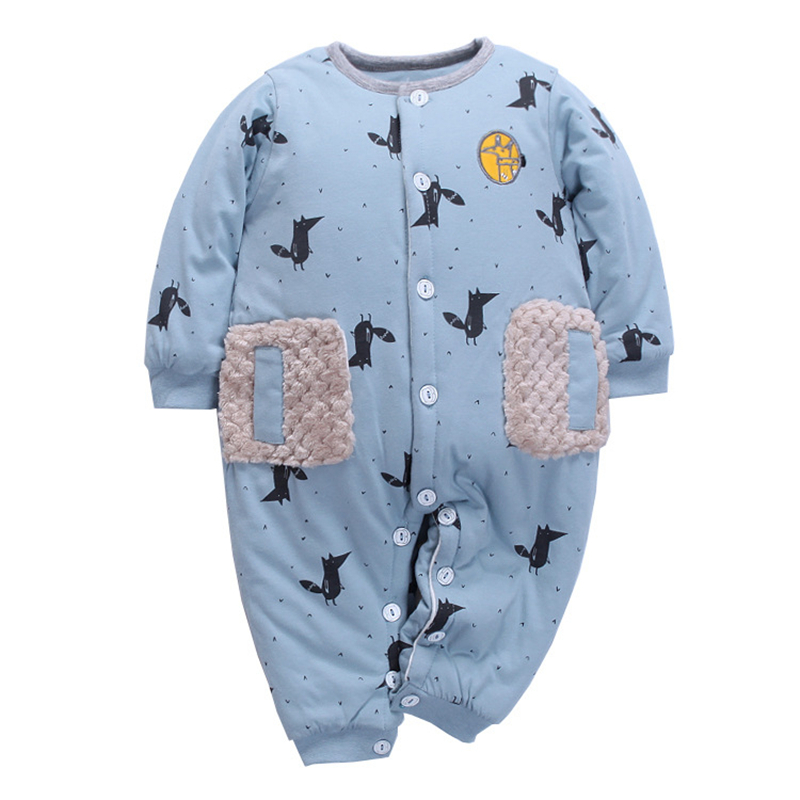 Baby Romper Boys girls Cotton Wadded Clothes Coral Jumpsuit Winter Thick Cotton Padded Clothes Soft Kids Climb Romper girls infants climb clothes baby romper jumpsuit children climb clothes cotton overalls boys long sleeve hooded romper