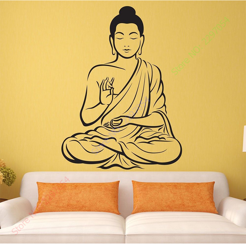 New Arrival Vinyl Wall sticker Buddha Yoga God Om Wall Decal ...