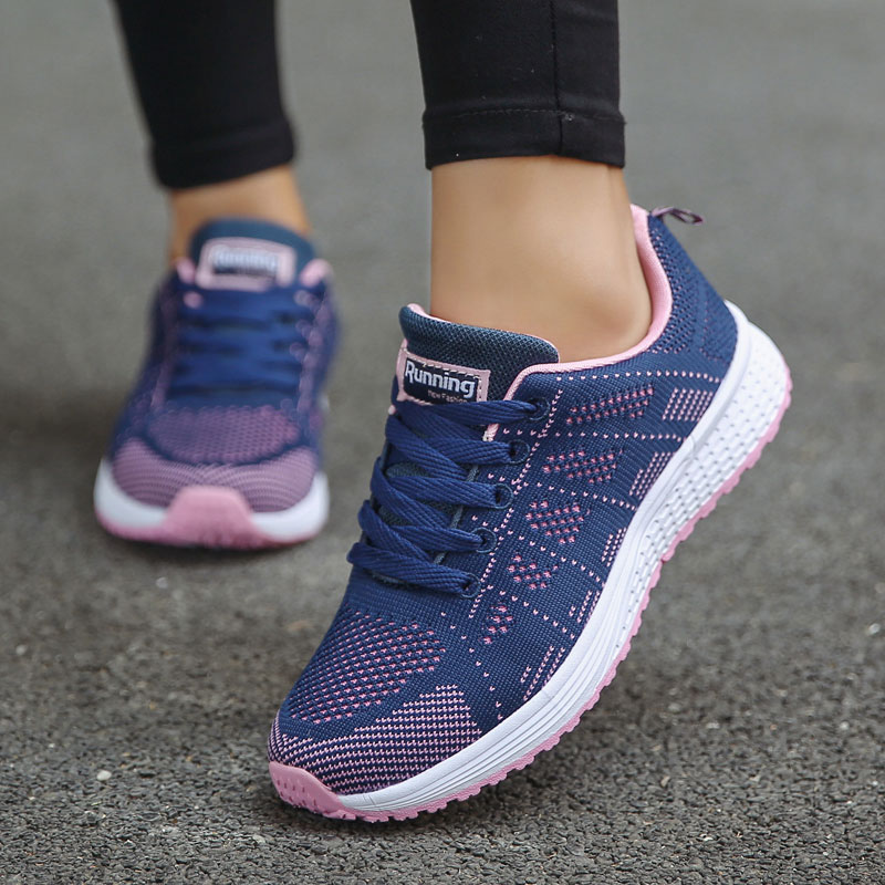 Vanmie Sport Running Shoes for Woman Light Breathable Mesh Flat Sneakers for Women(China)