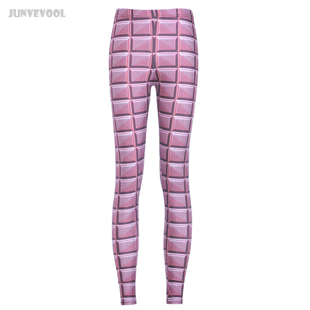 Pantalon Fitness Pink Pants Women's Sweatpants Ladies Girls Relief Grid Pritnted Women Leggings Stretchy Sexy Jeggings Pencil