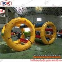 Прочный 0,9 мм ПВХ надувные водные игры роликовые колеса, аквапарк игры Прокат Надувное водяное беговое колесо
