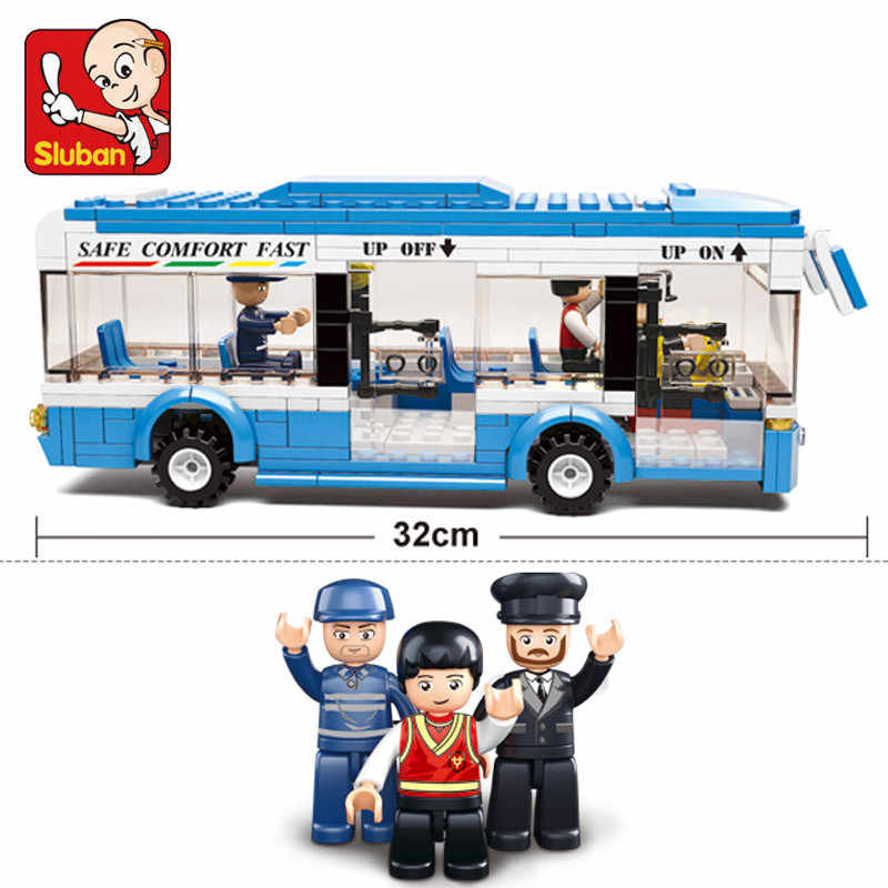 235 шт. городской автобус автомобиль строительные блоки наборы совместимые LegoINGs Creator DIY Кирпичи цифры Playmobil Развивающие игрушки для детей