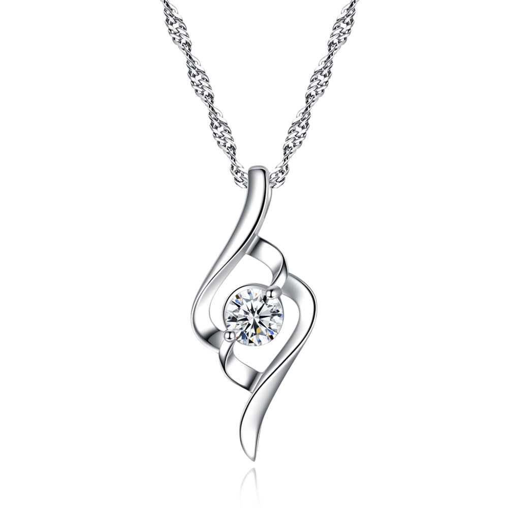 gentle angels AAA 100% 925 Sterling Silver Necklaces Gentle Angel Pendant Necklace Silver  Jewelry Fine Jewelry FREE