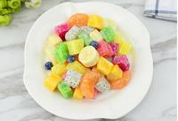 Festive Party Supplies Artificial Decorations Crafts Simulated Fruit Pitaya Peach Watermelon M Cubes Sala Model