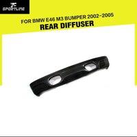 Carbon Fiber Rear Bumper Lip Diffuser For BMW E46 M3 Bumper 2002 2005