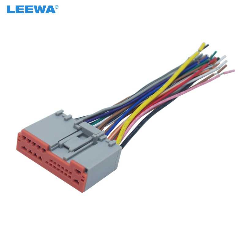 LEEWA Car Radio Player Wiring Harness Audio Stereo Wire Adapter for FORD Escape/Explorer/F-150/250/350/Focus/Mustang OEM Factory