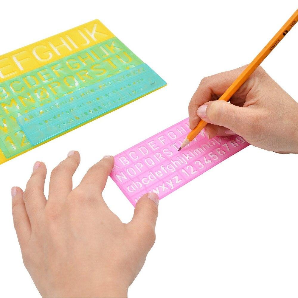 Xrhyy Verschiedene Farben Kunststoff Brief Und Alphabet Schablone