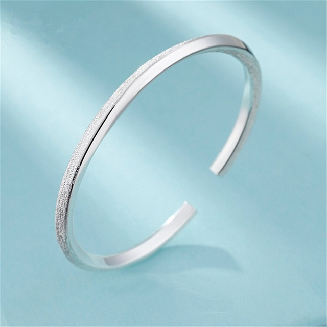 1c6f73a9c20 Simple Delicate 999 Sterling Silver Filled Dull Polish Twisted Cuff Bangle  Bracelets Women Dainty Jewelry