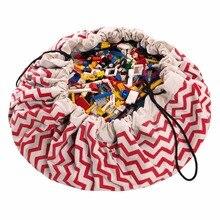 7 цветов, красная и Синяя волнистая полоса, Convas, Оксфорд, игровой коврик, сумка для хранения/детский игровой коврик/сумка для хранения игрушек/Детская сумка