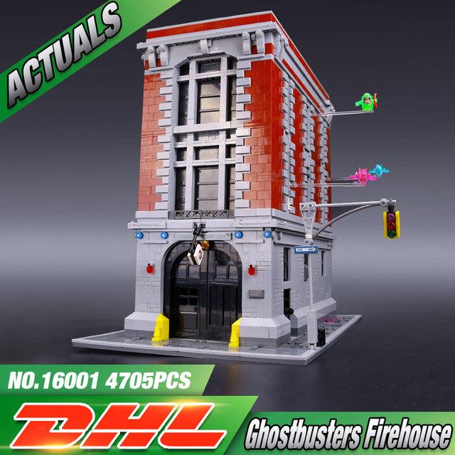 LEPIN 16001 4695 Unids Ghostbusters Sede del parque de Bomberos Modelo Kits de Construcción Modelo conjunto Compatible Con 75827