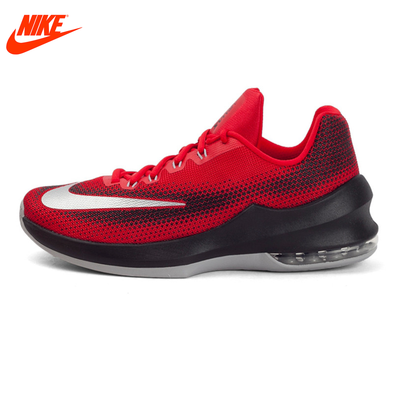 Original New Red Black NIKE AIR MAX INFURIATE LOW EP Men's Breathable Basketball Shoes Lot-tops Cotton Fabric Men Sneakers original new arrival 2017 nike air max infuriate mid ep men s basketball shoes sneakers