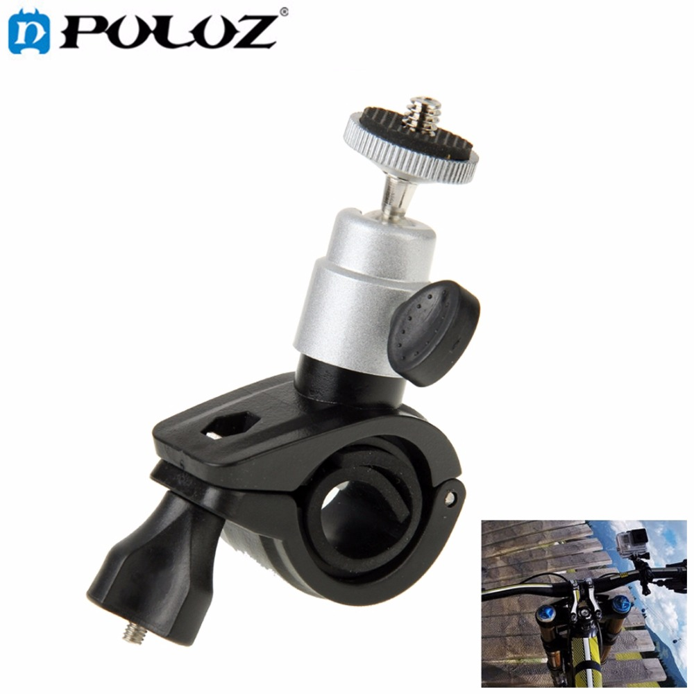 For GoPro Accessories Strong stable Bicycle Motorcycle Holder Handlebar Mount for GoPro HERO5 HERO4 Session HERO 5 4 3+ 3 2 1 pannovo universal abs plastic bicycle bracket holder mountt for gopro hero 4 2 3 3 grey