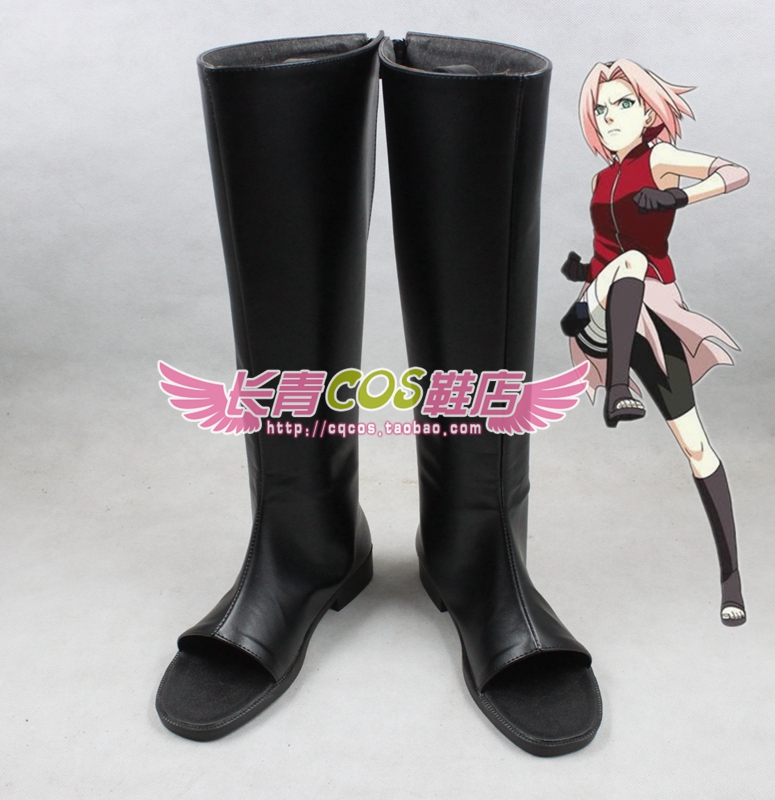 Naruto Sakura Haruno Black Shinobi Ops Member anbu Kakashi Cosplay Boots  shoes Ninja Halloween (Walking Demi)-in Shoes from Novelty & Special Use on  ...