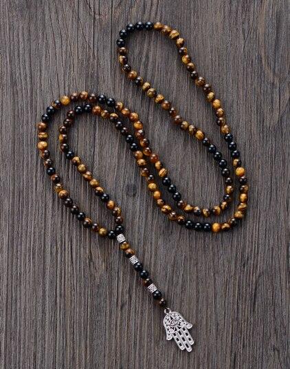 collier perle main de fatma