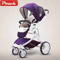 Pouch Children Stroller P37High landscape Baby Stroller Kinderwagen Poussette Baby Throne Infant Pushchair pram for the newborn