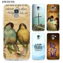 Transparent Soft Silicone Phone Case Bible verse Philippians For Samsung Galaxy j8 j7 j6 j5 j4 j3 Plus 2018 2017 Prime