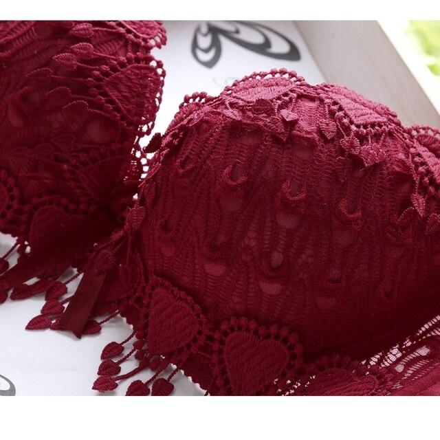 Women Underwear Solid Sexy Lingerie Corset Push Up Bra Set Girl Floral Lace Underwear Set Underwire Brassiere Outfit