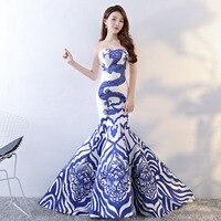 Китайский Стиль Свадебные Длинные Cheongsam ретро сексуальные тонкие вечерние платье брак платье Qipao Женская одежда Vestidos Размеры S XXL