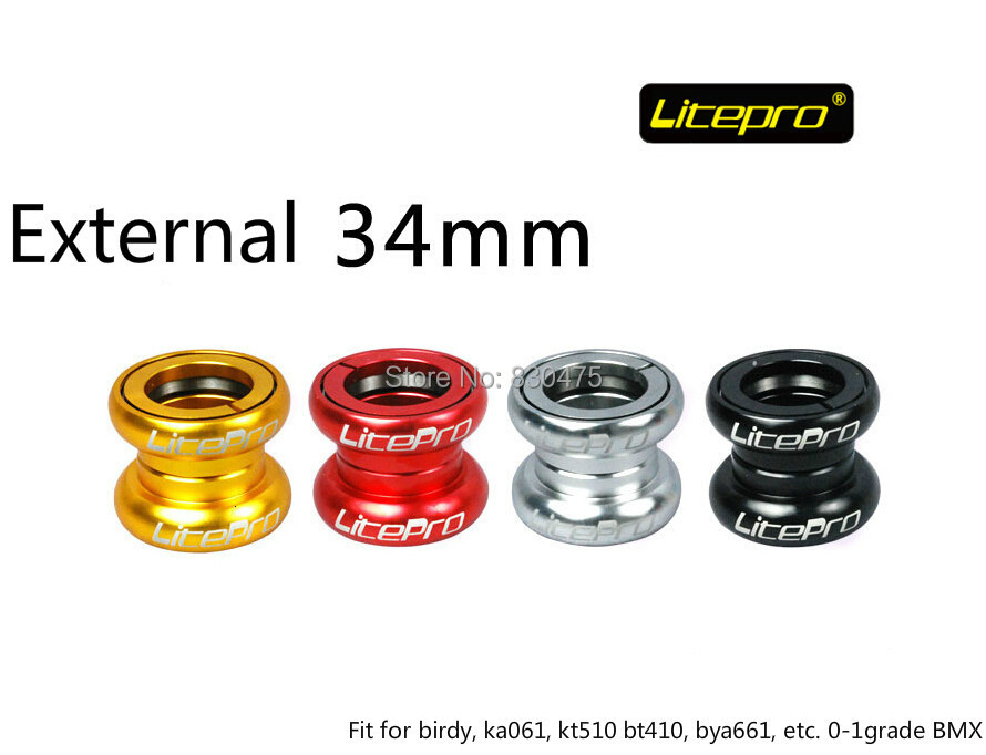 купить Litepro H72 Bearing External 34mm headset folding bike bowl set for KA061 BT410 KT510 birdy