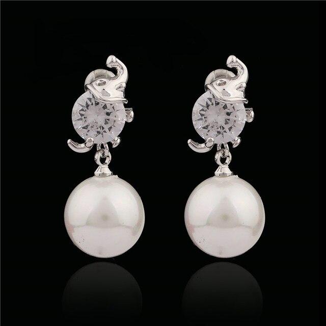 e061945713fe Grandes Aretes de Perlas Para la Novia de Regalo de Joyería de Moda Las  Mujeres de