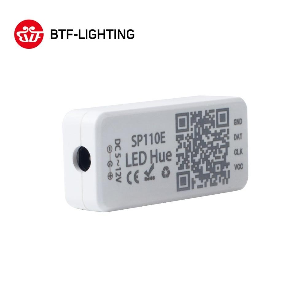 SP110E Bluetooth Controller DC5 12V For WS2812B SK6812 RGB RGBW Magic Lights LED Pixel Strip Smart