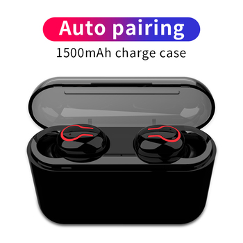 Bluetooth 5.0 Earphones Portable TWS Wireless In-ear 3D Stereo Sound With Mic Handsfree Sports Earbuds Auto Pairing Headset